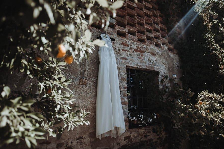 Brautkleid in der Toskana Hochzeit