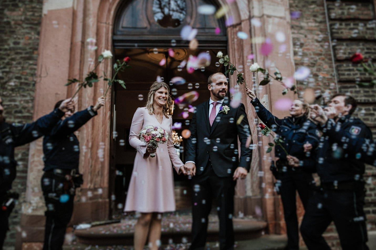 Heiraten Schloss Wahn Brautpaar Empfang