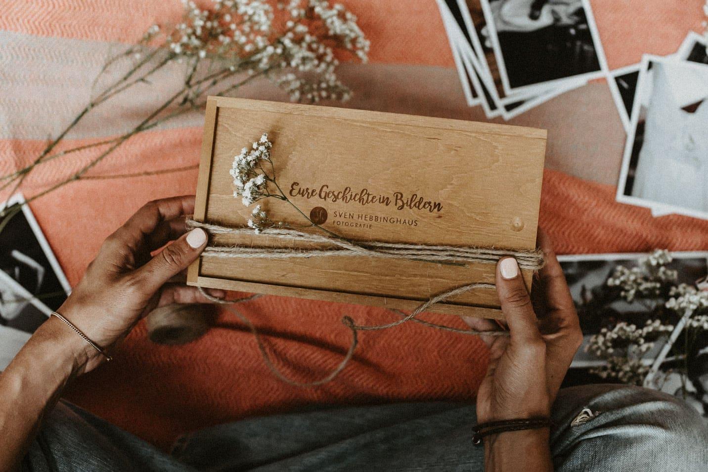 Geschenkbox für Hochzeitsreportagen ab 8 Stunden