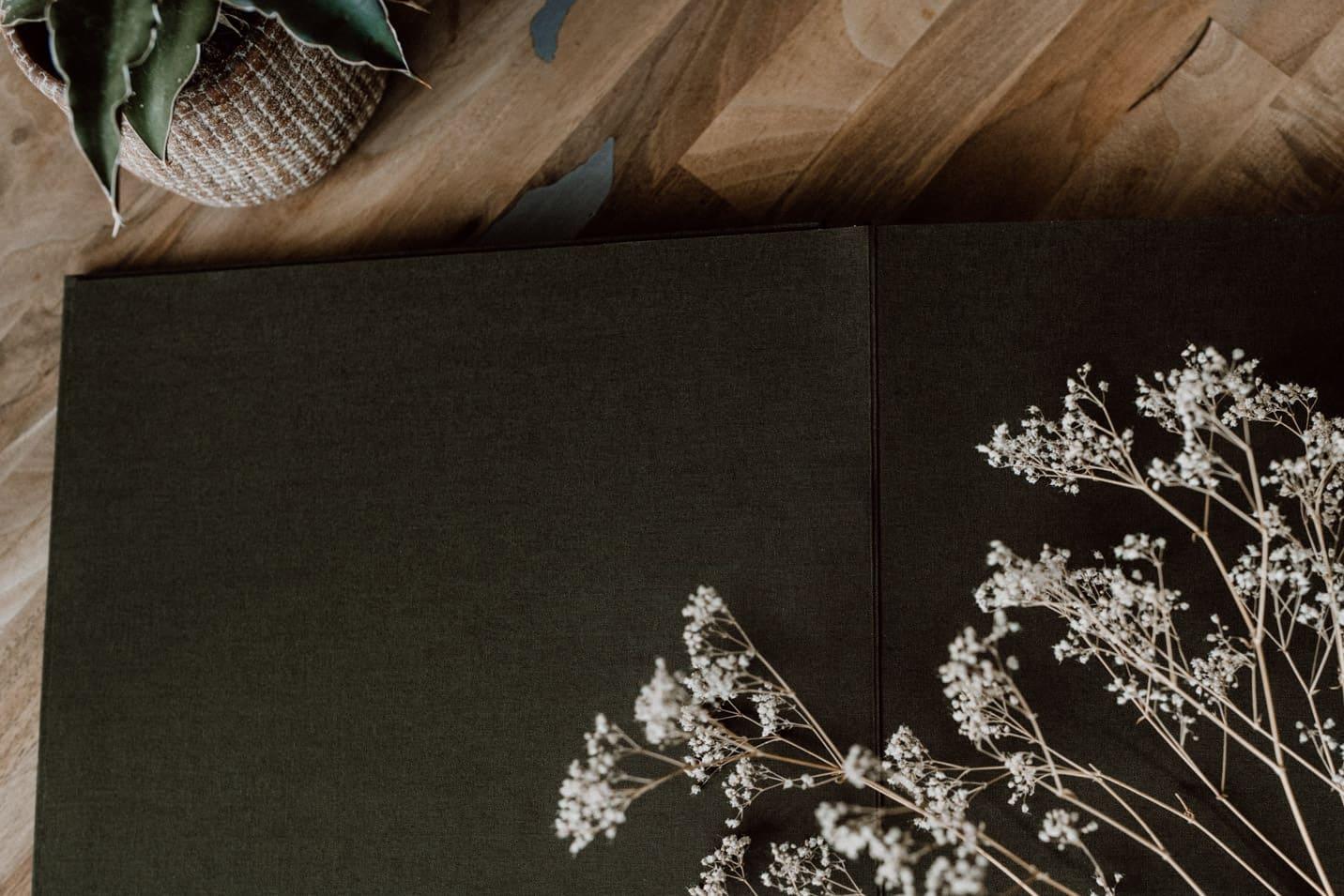 Einband aus Stoff in exklusiven Fotoalben von Floricolor