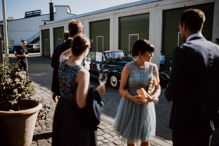 Brautpaar Eintreffen Rarehouse Köln