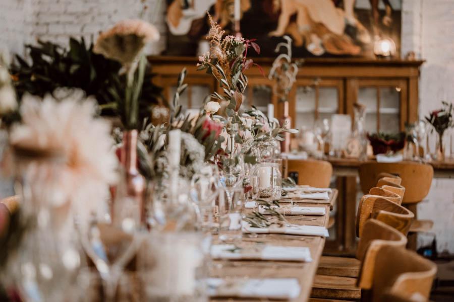 Boho Deko Tische Hochzeit im Rarehouse
